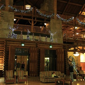 2 of 14: Disney's Wilderness Lodge Resort - Wilderness Lodge Resort holiday decorations 2009