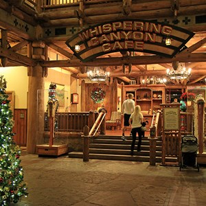 13 of 14: Disney's Wilderness Lodge Resort - Wilderness Lodge Resort holiday decorations 2009