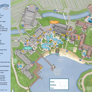 1 of 1: Disney's Yacht Club Resort - 2013 Yacht Club guide map