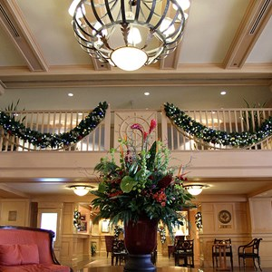 3 of 24: Disney's Yacht Club Resort - Yacht Club Resort holiday decorations 2009
