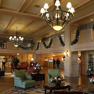 4 of 24: Disney's Yacht Club Resort - Yacht Club Resort holiday decorations 2009