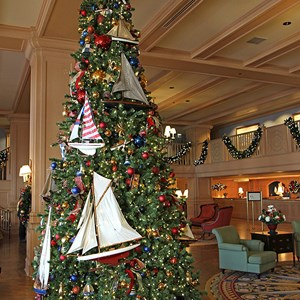11 of 24: Disney's Yacht Club Resort - Yacht Club Resort holiday decorations 2009