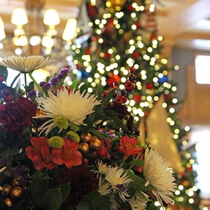 12 of 24: Disney's Yacht Club Resort - Yacht Club Resort holiday decorations 2009