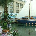 Gaylord Palms Resort - The 60' sailboat at the entrance of the restaurant serves appetizers onboard