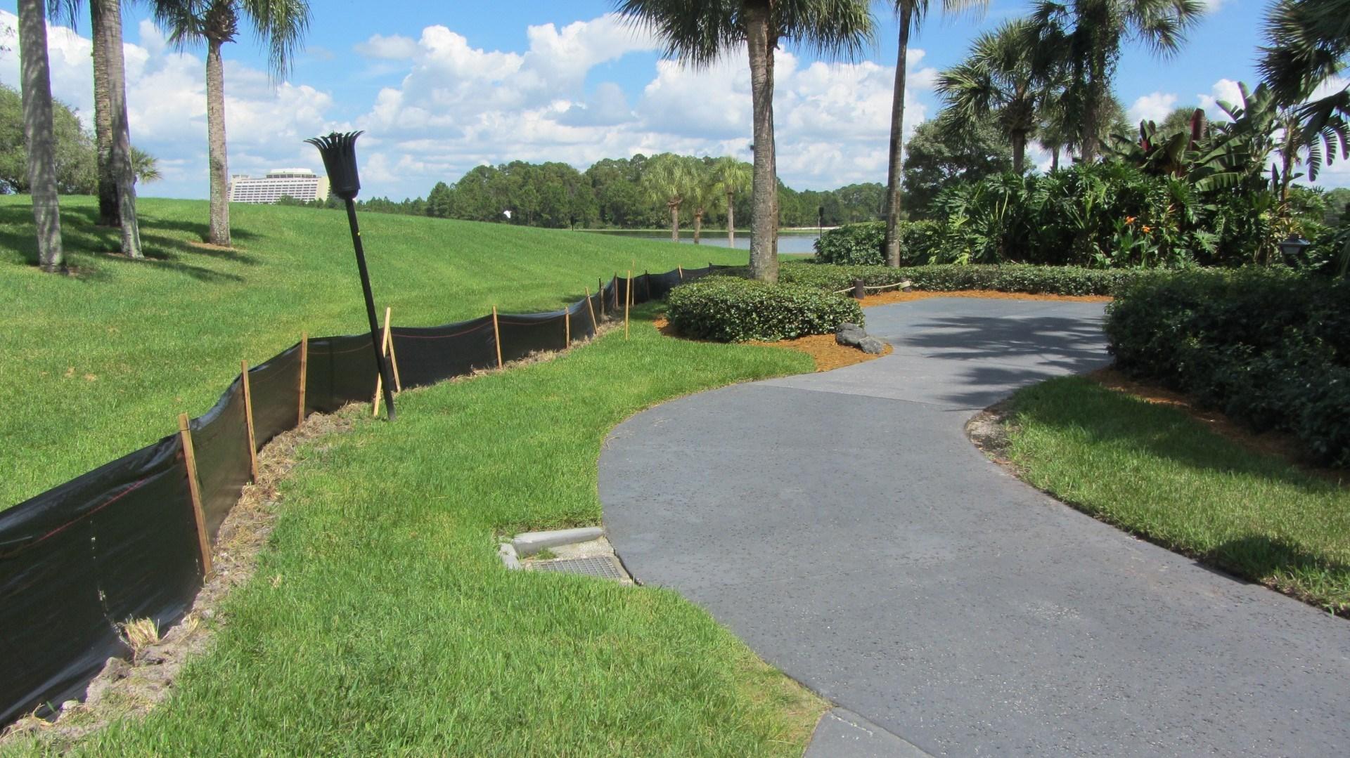 Early signs of DVC villas site preparation at Disney's Polynesian Resort
