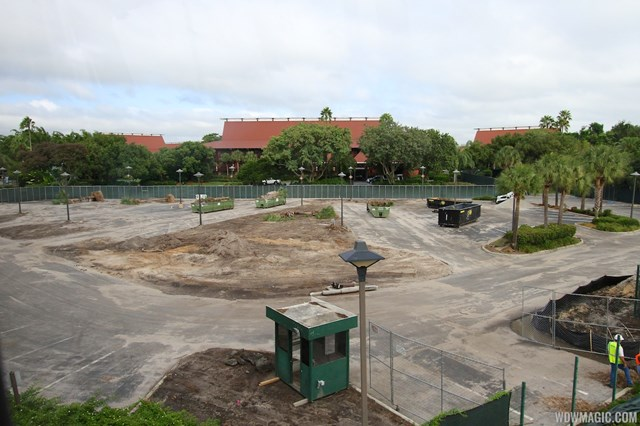 A former cast parking lot is now being cleared