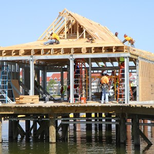 2 of 5: The Villas at Disney's Polynesian Resort - Polynesian Resort DVC Villas construction
