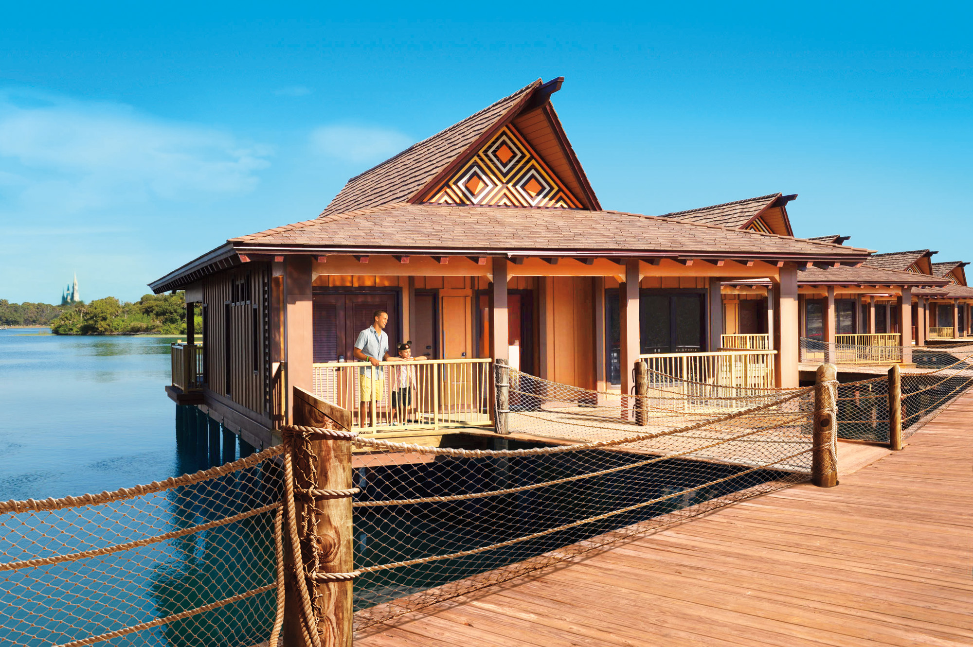 The bora bora bungalows at disney 39 s polynesian village for Villas polinesia