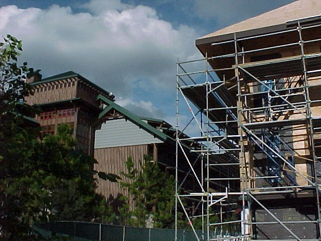 Construction of the new Vacation Club resort at the Wilderness Lodge