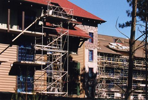 Latest construction of the new Vacation Club resort at Wilderness Lodge