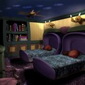 Walt Disney World Resorts - Haunted Mansion room concept