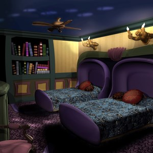 1 of 4: Walt Disney World Resorts - Haunted Mansion room concept