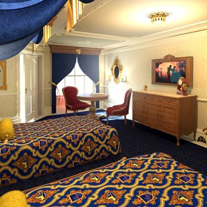 4 of 4: Walt Disney World Resorts - Disney's Royal Room concept
