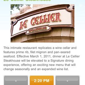 6 of 6: Walt Disney World Resorts - Mobile dining reservations iPhone screen shots