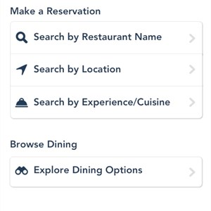 3 of 5: Walt Disney World Resorts - iPhone My Disney Experience App