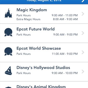 4 of 5: Walt Disney World Resorts - iPhone My Disney Experience App
