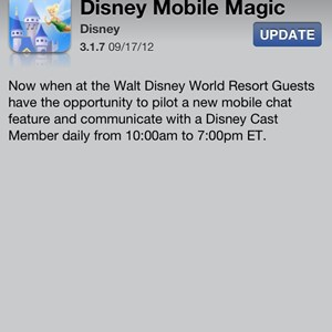 1 of 2: Walt Disney World Resorts - Official iPhone App updates