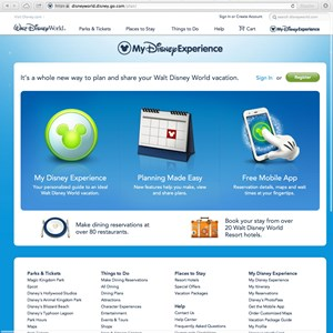 2 of 5: Walt Disney World Resorts - New official Walt DIsney World website - My Disney Experience section
