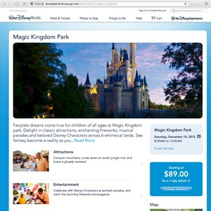 4 of 5: Walt Disney World Resorts - New official Walt DIsney World website - Magic Kingdom