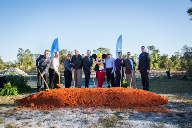 Ground breaking at the new Walt Disney World laundry facility