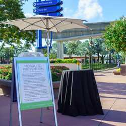 Mosquito Prevention station at Epcot