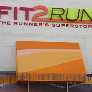 2 of 3: Fit2Run - Fit2Run store-front signage