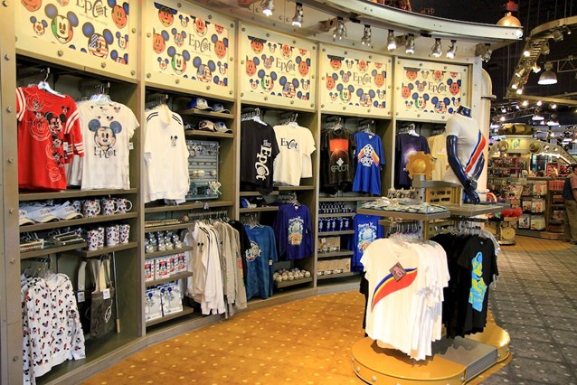Mouse Gear - New Epcot merchandise display