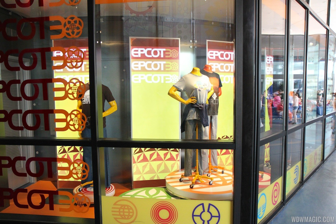 Mouse Gear Epcot 30th Anniversary window display