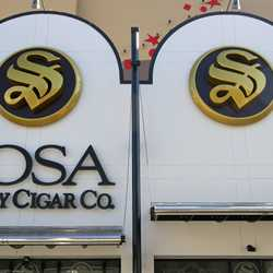 New Disney Springs urban color scheme at Sosa Cigars