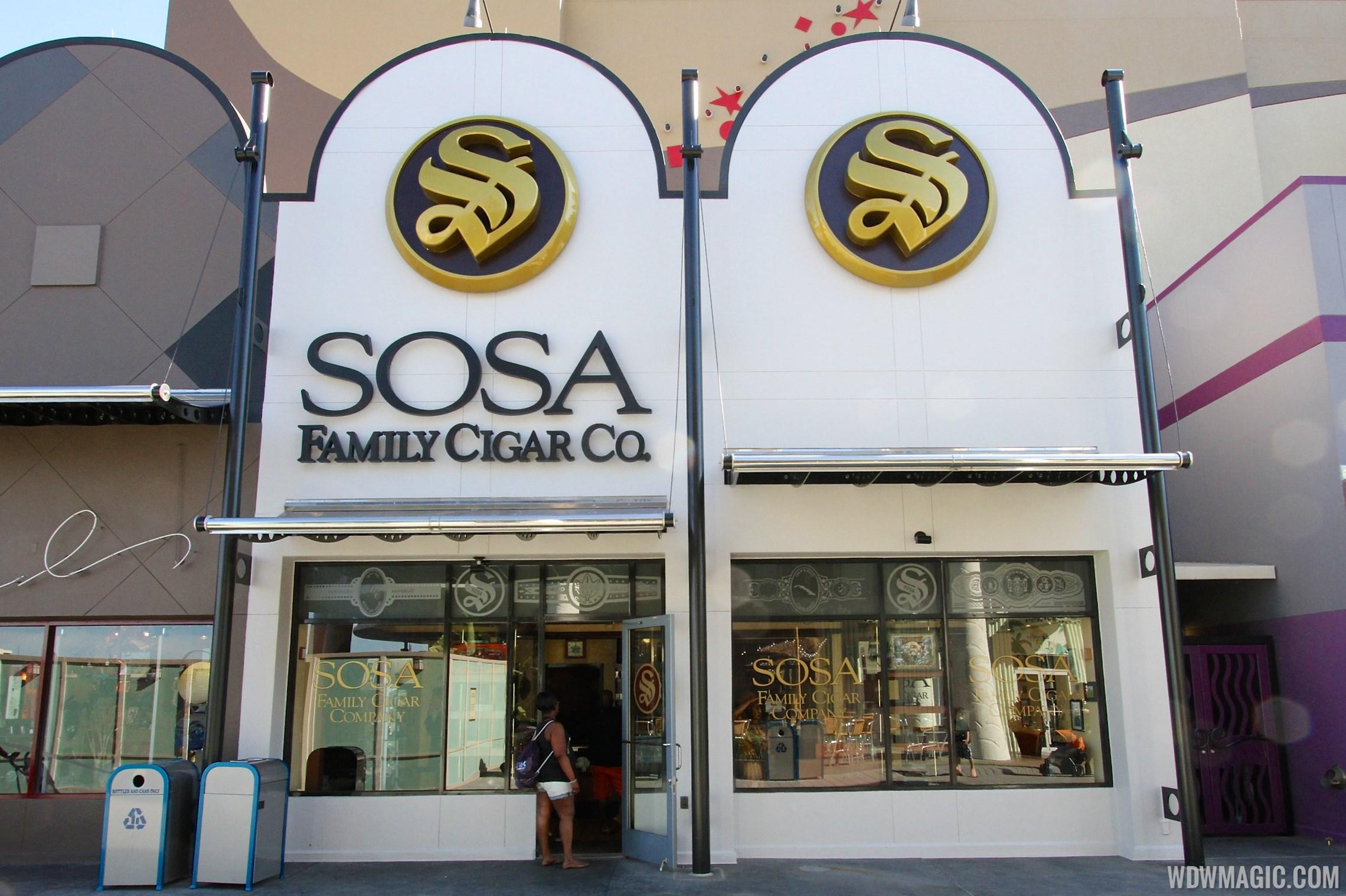 New Disney Springs urban color scheme at Sosa Cigars
