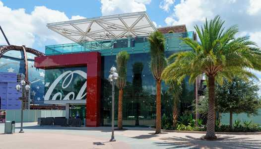 PHOTOS - Walls down at Disney Springs Coca-Cola Store as finishing touches are applied