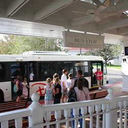 Transportation schedule screen at Disney's Grand Floridian Resort