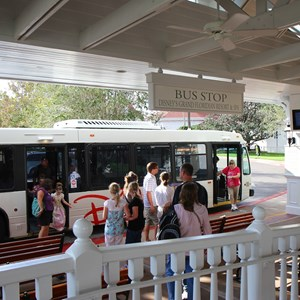 2 of 3: Bus Transportation - Transportation schedule screen at Disney's Grand Floridian Resort