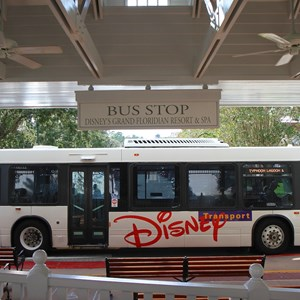 3 of 3: Bus Transportation - Transportation schedule screen at Disney's Grand Floridian Resort
