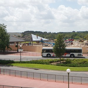 1 of 6: Bus Transportation - Magic Kingdom bus stop expansion construction