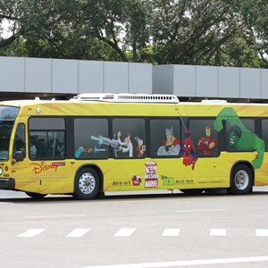 1 of 3: Bus Transportation - Disney Channel bus wrap