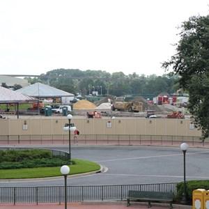 2 of 8: Bus Transportation - Magic Kingdom bus stop expansion construction
