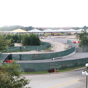 6 of 8: Bus Transportation - Magic Kingdom bus stop expansion construction