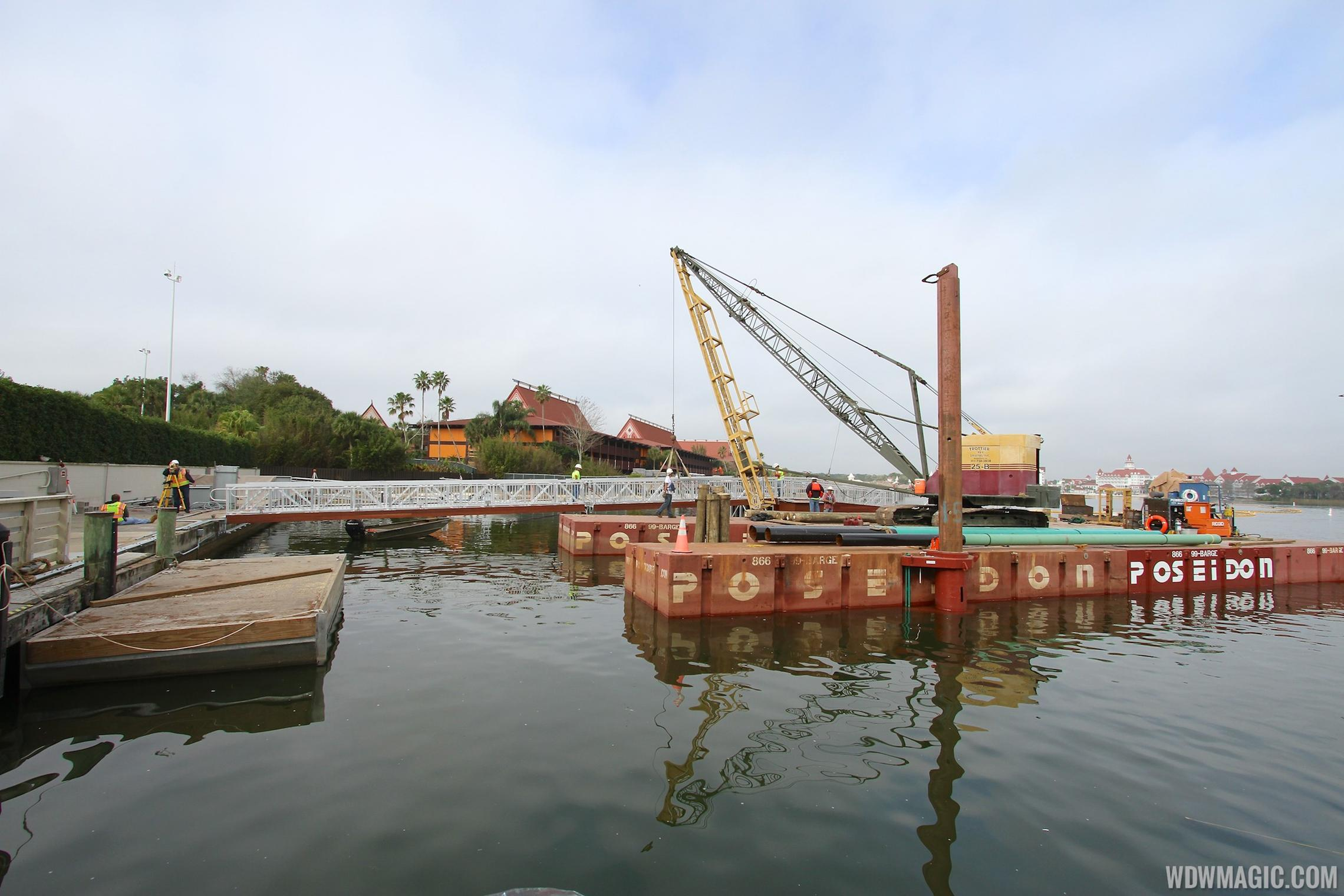 The TTC's second ferry boat dock under construction