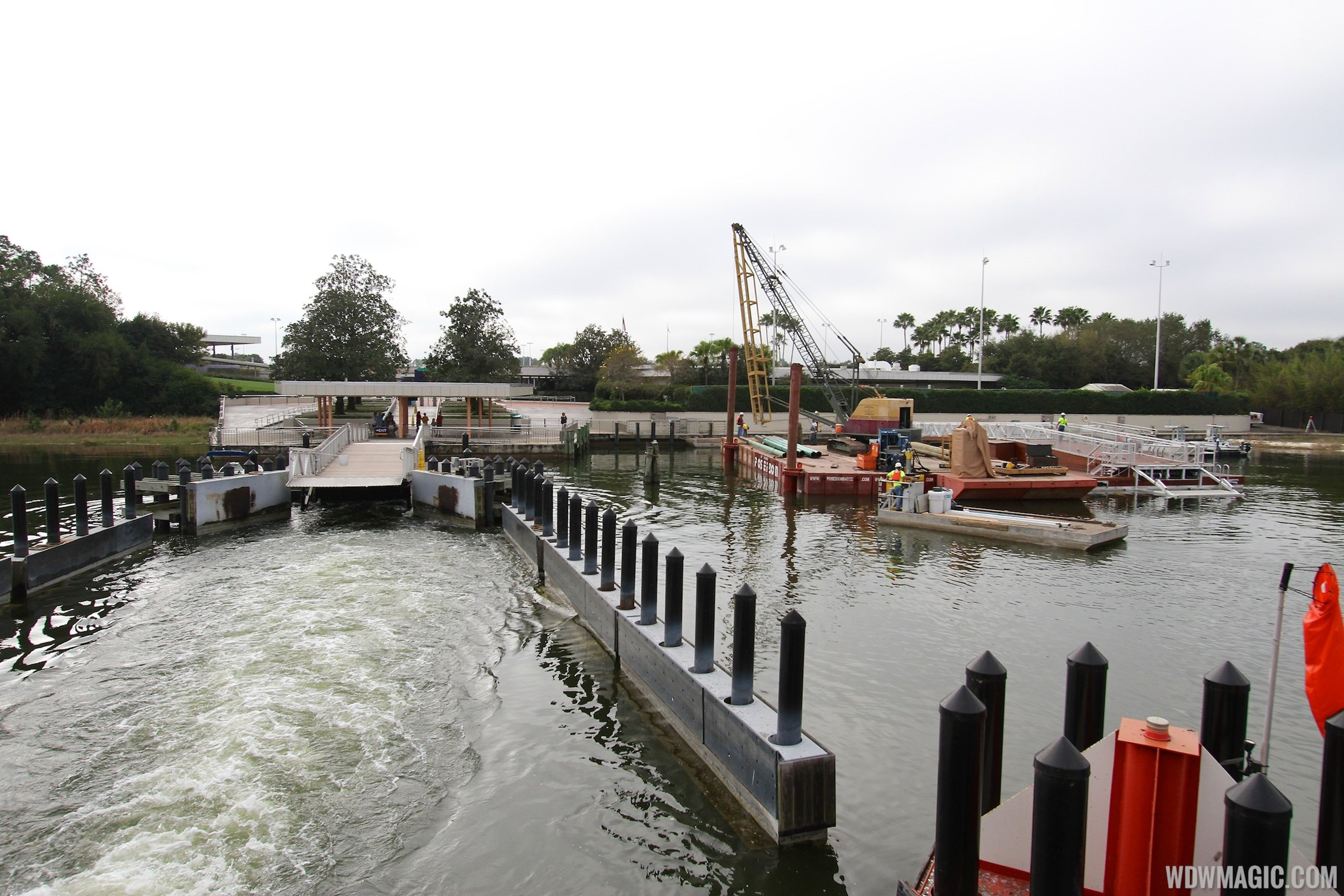 Second Ferry boat loading dock at Transportation and Ticket Center