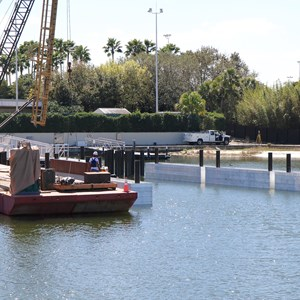 2 of 5: Magic Kingdom Ferry boats - Second Ferry boat loading dock at Transportation and Ticket Center construction