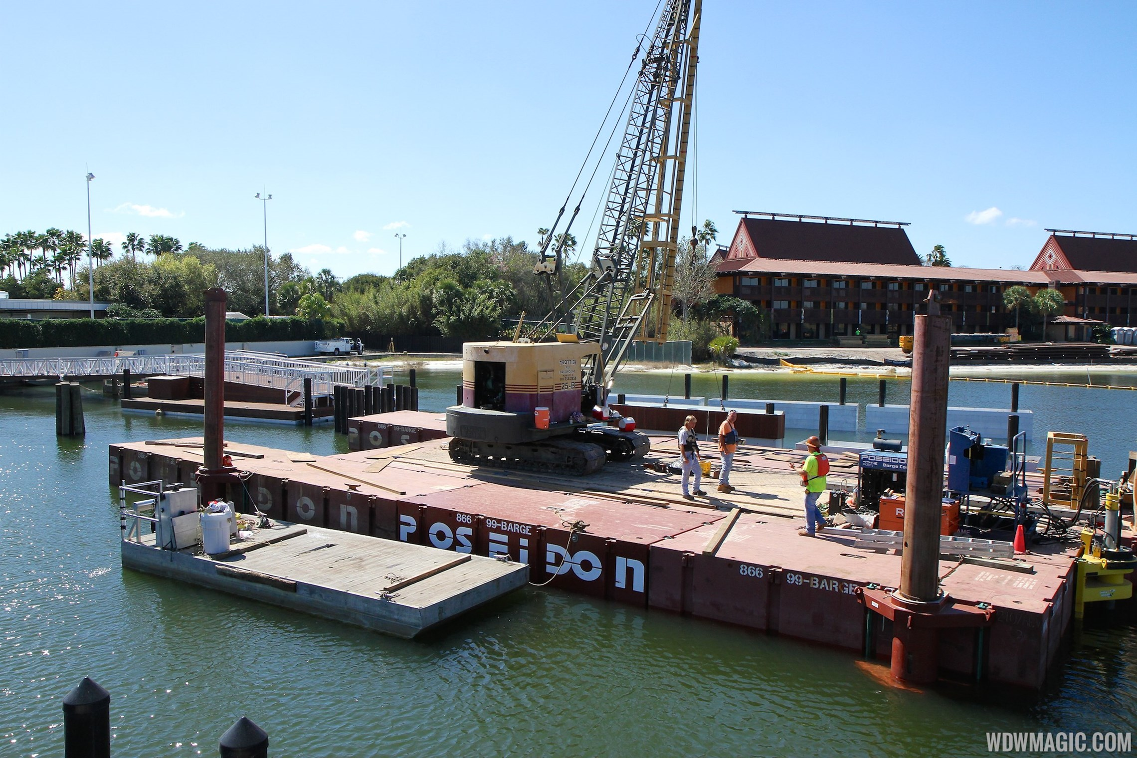 Second Ferry boat loading dock at Transportation and Ticket Center construction