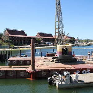 4 of 5: Magic Kingdom Ferry boats - Second Ferry boat loading dock at Transportation and Ticket Center construction