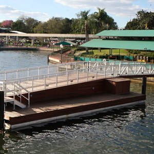 1 of 4: Magic Kingdom Ferry boats - Second Ferry boat dock construction at the Magic Kingdom