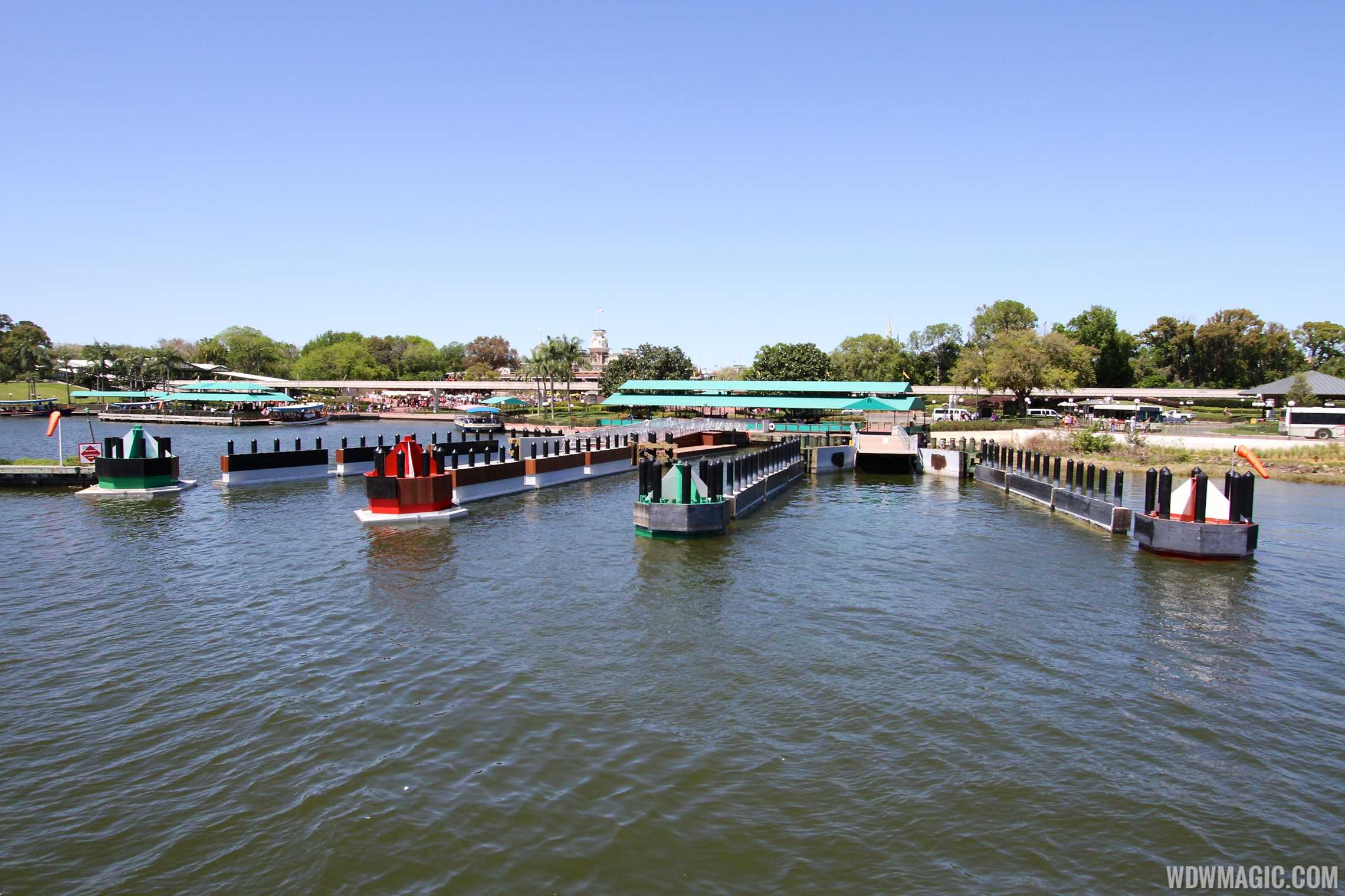 Completed second Magic Kingdom ferry boat dock