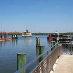 TTC Ferry boat dock in operation