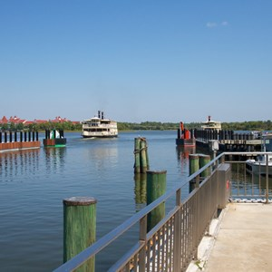 2 of 2: Magic Kingdom Ferry boats - TTC Ferry boat dock in operation