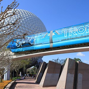2 of 9: Walt Disney World Monorail System - The left side of Monorail TRON