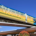 Walt Disney World Monorail System - The front right side of Monorail TRON on the Epcot beam heading into the station