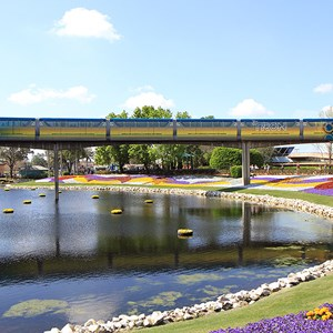 5 of 9: Walt Disney World Monorail System - The full length of the right side of Monorail TRON